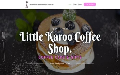 Little Karoo Coffee Shop Website Banner