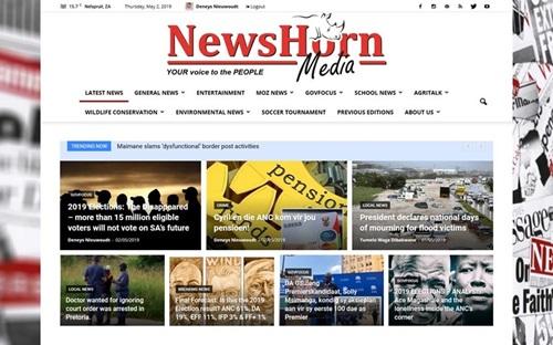 Newshorn Newspaper Website Banner