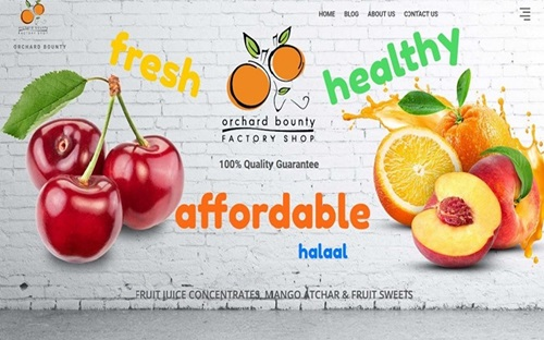 Orchard Bounty Website Banner