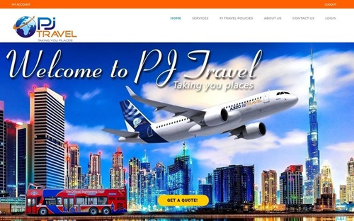 PJ Travel Website Banner