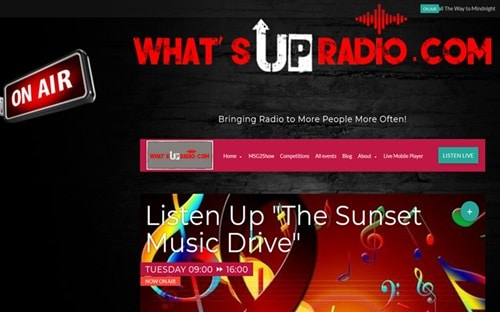 Whatsupradio.com Website Banner