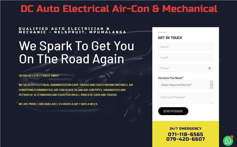DC Auto Elecrician website