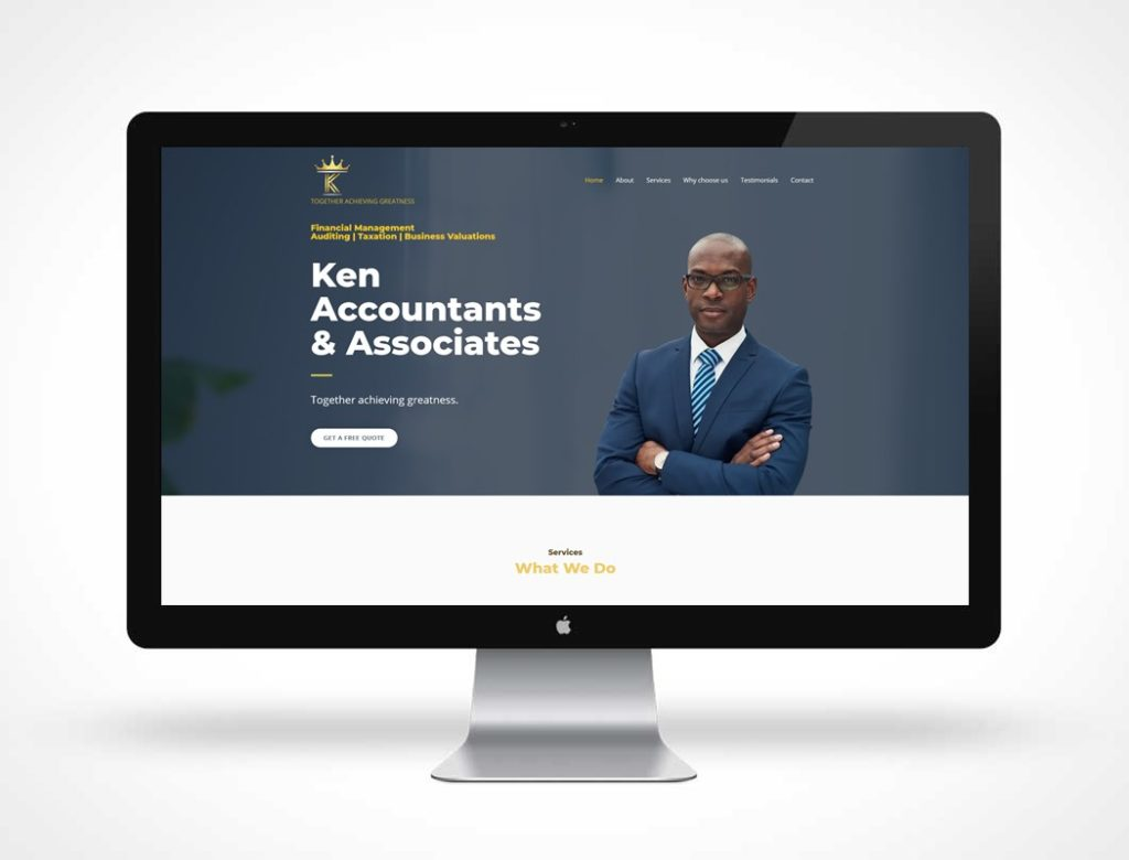 screenshot of Ken Accountants & Associates