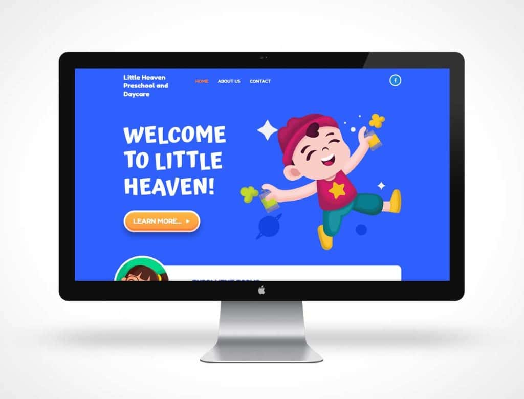 screenshot of Little Heaven Preschool