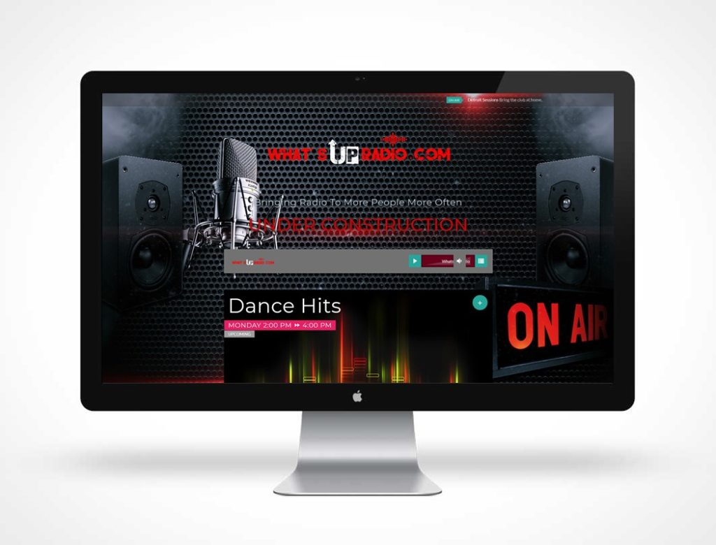 screenshot of WhatsUpRadio.com